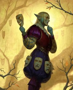 Image from fantasy and syfy..with some cats..NSFW — inspirationofelves:   HEX: Master of Masks by...