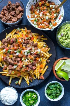The Best Carne Asada Fries (Loaded Fries) - The Girl on Bloor Grilling Recipes, Cooking Recipes, Healthy Recipes, Cooking Ideas, Easy Recipes, Mexican Fries, Nacho Fries, Chili Cheese Fries, Mexican Food Recipes