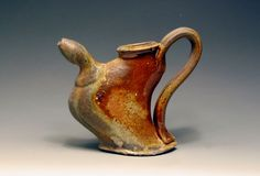 Clay art center : Jonathon Mcmillan : altered cruet anagama stoneware