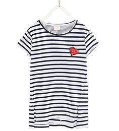 スパンコールアップリケ付きストライプTシャツ-すべてを見る-Tシャツ-ガール (4歳-14歳)-キッズ   ZARA 日本 Zara United Kingdom, Sequin Appliques, Girls 4, Birthday Wishes, Sequins, Kids, T Shirt, Women, Fashion