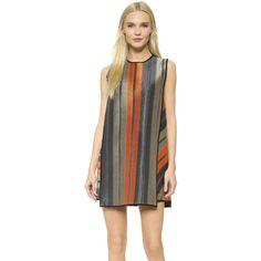 MSGM Raffia Dress ($615) ❤ liked on Polyvore featuring dresses, msgm dress, see through dress, kohl dresses, sheer shift dress and transparent dress
