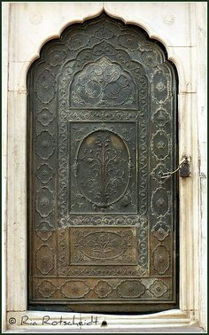 Pretty metal door in India