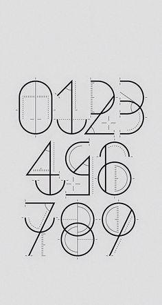 #Шрифт#цифры#типографика