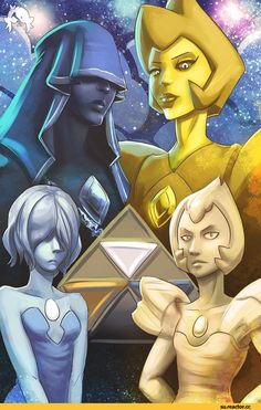 Steven universe,фэндомы,Blue Diamond,Blue Pearl,Yellow Diamond,SU Персонажи,Yellow Pearl