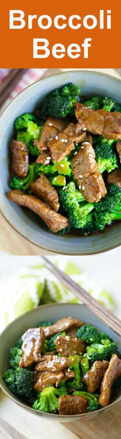 Chicken Vindaloo Broccoli Beef - best and easiest homemade beef and broccoli in brown sauce. You'll never need another broccoli beef takeout Broccoli Beef, Broccoli Recipes, Meat Recipes, Asian Recipes, Cooking Recipes, Healthy Recipes, Chinese Recipes, Chinese Food, Easy Dinner Recipes