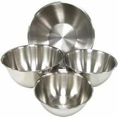 Light Weight Stainless Steel Mixing Bowls - Set of 4 by Chefs Pal Kitchenware, http://www.amazon.com/dp/B00903PIVY/ref=cm_sw_r_pi_dp_vnNLqb1S4N386