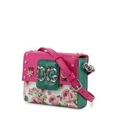 Dolce & Gabbana, Logo Color, Colorful Flowers, Bag Making, Pink And Green, Shoulder Strap, Handle, Closure, Touch