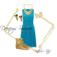 Daenerys Summer by kathrinstuff on Polyvore featuring Christian Louboutin, First People First, Stella & Dot and Forever 21