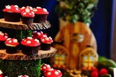 Toadstool cupcakes
