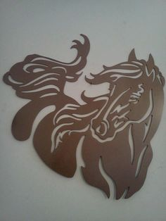 Steel horse silhouette by Metal Art Direct.