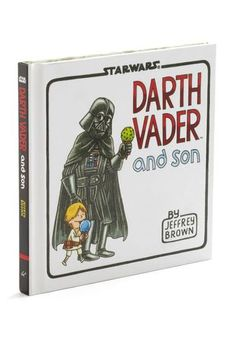 Darth Vader and Son Book-Here's one thing I haven't seen in a Star Wars episode in a little while. This adorable and cuddly father and Son book is full of the sweetest father and son images you'll ever see! Watch as Darth Vader and l Darth Maul, Darth Vader Y Su Hijo, Darth Vader And Son, Star Wars Darth, Star Wars Baby, Luke Skywalker, Upcycled Crafts, Kit Fisto, Starwars
