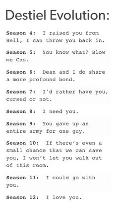 Season 13: I wanted to die because I thought you were dead. (And you were!!!!)