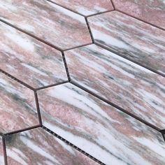 Our Mini Kite Marble Mosaic in Rosa Potagallo. #featuretiles #mosaictiles #marblemosaics #marbletiles #bathroomtiles #kitchentiles #marblemosaicbacksplash #marblemosaicsplashback Feature Tiles, Marble Mosaic, Kitchen Tiles, Kite, Tile Floor, Flooring, Dragons, Tile Flooring, Wood Flooring