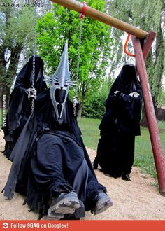 """Meanwhile, in mordor : """"Wheee!""""   """"Um, so Sauron there's this guy we've been meaning to talk with you about and """"   """"SHADDUP and push me higher my minions!!"""""""