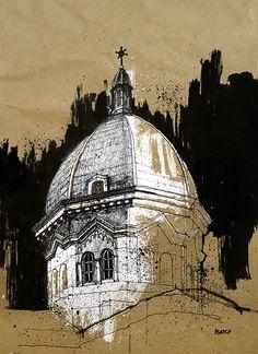 Gcse Art Sketchbook My Surroundings 18 Ideas Miss Hougham Illustration Sketches, Art Drawings Sketches, Drawing Art, Paper Drawing, Colour Drawing, Drawing Ideas, Architecture Sketchbook, Art And Architecture, Cathedral Architecture