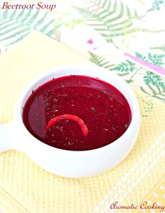 Aromatic Cooking: Beetroot Soup