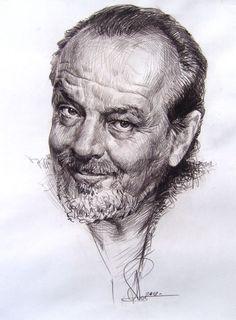 Техника исполнения: бумага, сепия (в карандаше). Размер: 42/57, 2012г.  Заказать портрет с натуры или по фото, Санкт-Петербург.