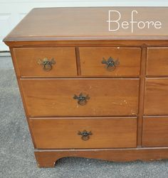 This chick is awesome! Great step by step directions with helpful product sharing!  Centsational Girl » Blog Archive » Two Tone Treasure + How to Paint Furniture