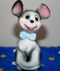 Vintage Large Ears Chalkware Mouse Figurine by AstridsPastTimes, $25.00
