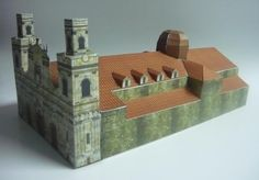 Catedral Primada De Colombia Paper Model - by Enver B. Garzón - This beautiful paper model of the Catedral Primada, in Colombia, was created by designer and modeler Enver Balcázar Garzón. The model occupies six sheets of paper and is in 1/200 scale.