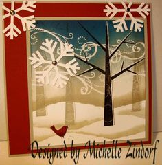 love the trees using Stampin Up Season of Friendship
