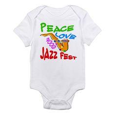 Peace Love Jazz Fest 09 Infant Bodysuit
