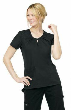 Black Roxanne Top   #nursing #fashion   #medical #uniforms   #nurse #scrubs   #black #style   #medapparel