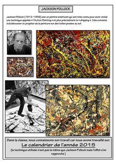 Jackson Pollock page - - Action Painting, Jackson Pollock, Art Studio Storage, Art Articles, Art Worksheets, Ecole Art, Witch Art, Collaborative Art, Preschool Art