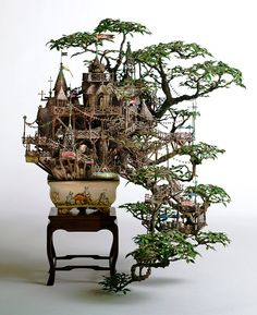 "nessiepookinsface: "" Bonsai Treehouses by Takanori Aibi """