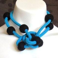 felt jewelry felt ball necklace felt necklace by frankideas, $30.00