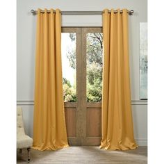 Shop for Exclusive Fabrics Marigold Grommet Blackout Thermal Curtain Panel Pair - PJ's Room