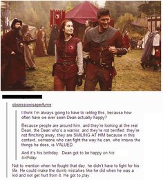"""""""Dean is actually happy on this day :) I can't...the feels..."""" <-- Repinning because of the most amazing tumblr post!"""