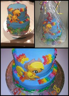 My little pony is the best-even though sometimes the 6 frends have a problem so I was thinking if I could make an applejack cake.
