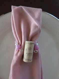 Pink Cupcake Napkin Rings by TheBeadedCork on Etsy, $17.00