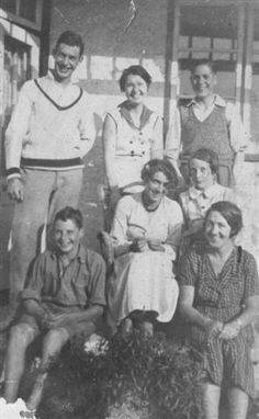 Davies family. My Mother Annie Mary bottom right. Grandmother middle lady sitting.