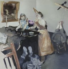 Lars Elling, Mother's Day, oil and egg tempera on canvas, 67 x 67″, 2010.