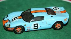 RECORD 1/43 HAND BUILT #9 GULF FORD GT40 RODRIGUEZ LE MANS 1968 WINNER MODEL