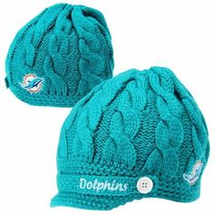 '47 Brand Miami Dolphins Ladies Sky Box Knit Beanie - Aqua