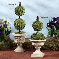 Percelle Polystone Topiary Accents