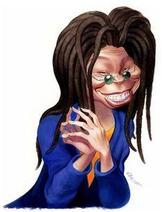 Whoopi Goldberg caricature