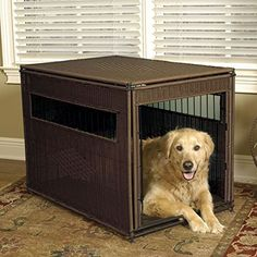Mr Herzhers Wicker Pet Residence  XLarge  28W x 42D x 31H * Read more reviews of the product by visiting the link on the image.