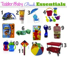 beach essentials with a toddler baby - minus the swimmies, we're a hardcore ISR family Beach Trip Tips, Beach Hacks, Beach Fun, Baby Beach, Beach Babies, Beach Ideas, Toddler Beach, Traveling With Baby, Traveling Tips