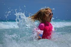 Chased by waves.