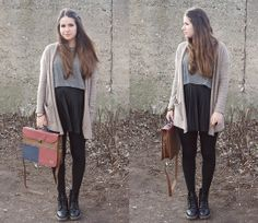 H&M Cardigan, Dr. Martens Boots