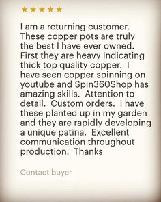 Lovely review from a valued returning customer! If you live locally to Portsmouth you can view and buy a selection of my work @hillfieldtrading on castle road in southsea. Also through #etsy or directly through me. #metalspinning #madeinuk #madeinbritain #britishmade #handmade #hampshire #portsmouth #southsea #affordableluxury #homeaccessories #copper #interiordesign #pendantlighting #lights #lighting #copperlighting #aluminium #vintage #industrial #industrialdesign #etsyshop #design…