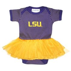 Two Feet Ahead Infant Girls' Louisiana State University Pin Dot Tutu Creeper (Purple, Size 12 Months) - NCAA Licensed Product, Toddler Licensed at ...
