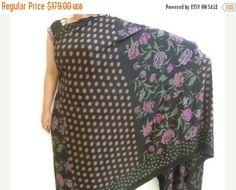 Printed saree designer sari Black sari Satin saree wedding Sarees with unstitched blouse-IDS17