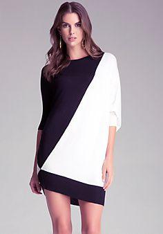 bebe: Colorblock+Sweater+Dress