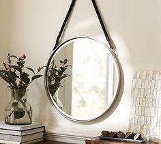 "Paloma Mirror - Pottery Barn $159 20.5"" diameter, 1"" thick."