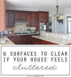 Are the piles and clutter driving you crazy? Cut the clutter in your home when you clear these 6 surfaces.